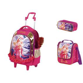 Mochilete G + Lancheira + Estojo Barbie Dreamtopia Sestini