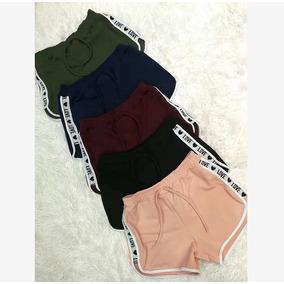 Shorts Love Lateral Regulagem Na Cintura Soltinho Estampa
