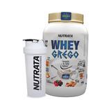 Whey Protein Cremoso Grego 900g + Coquet De Brinde - Nutrata