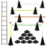 10 Cones Furados C/ Barreiras + Escada Agilidade + 10 Pratos