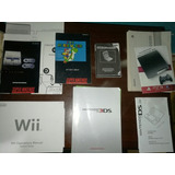 Manuales Nintendo, Snes, Wii, Gameboy, Ps3, Ds, 3ds