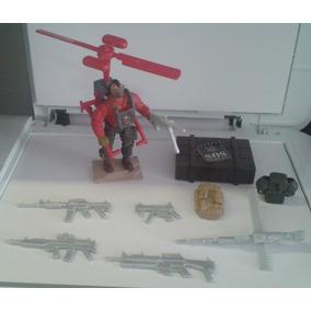 Boneco Sos Comandos Mochila Voadora Helicóptero Acessórios