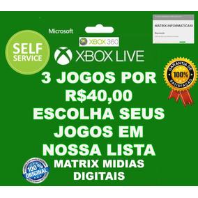 3 Jogos Xbox 360 Original-mídia Digital