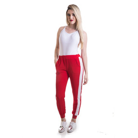Calça Feminina Jogger Listrada Viscose Moda Tendencia #064