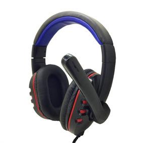 Headset Pctop Com Microfone Preto/vermelho Hsgm-rb