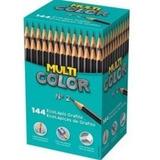 144 Lápis Preto Nº2 - Multicolor- Caixa - Oferta - Ecolápis
