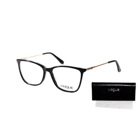 f4981c0210142 Armacao Feminina Vogue - Óculos Preto no Mercado Livre Brasil