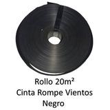 Cinta Rompeviento Negro Para Malla Ciclonica 20m2 Ne20