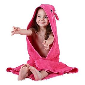 Toalla Para Bebé Con Capucha De Algodon Rosa 2 Niña Michley