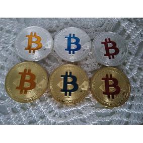 Kit Com 6 Moedas Físicas De Bitcoin Comemorativa Mais Brinde
