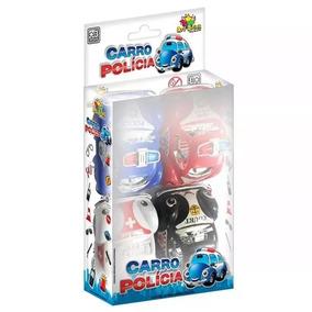 Carro Polícia - 04 Mini Carro De Polícia