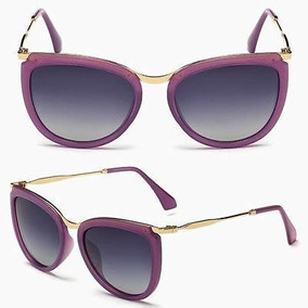 Óculos De Sol Polarizado Hd Moderno Feminino Moda Fashion 2d6b1f21c3