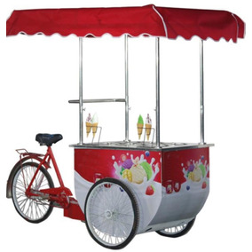 Carrito Para Helados 6 Sabores Triciclo Roma Zepnic