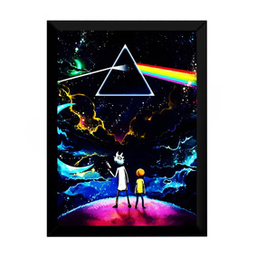 Quadro Lindo Rick And Morty X Pink Floyd 42x29cm