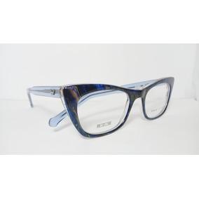 Óculos Armação Acetato Feminino 49 Azul Com Mesclas Ginger 7b0a5e6555