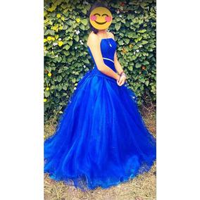 Vestido azul rey de xv