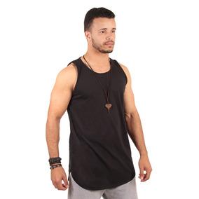 fabf7494e Camiseta Blusa Regata Camisa Masculina Longline Básica