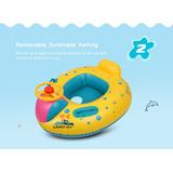 Inflable Bebé Natación Anillos Flotador Seat Barco Con Dos