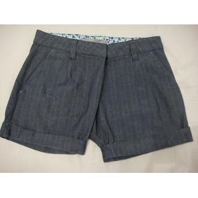 Grife Cantão - Shorts Risca De Giz Jeans - T38 77e5e128918