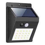 Pack X2 Reflectores Solares 20 Led Sensor Alta Potencia