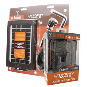Bushnell Camera Trilha 14mp Hd Marrom Escuro + Painel Solar