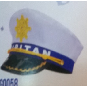 Sombrero Capitan De Marina - Cotillón en Mercado Libre Argentina 459a58dd620