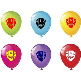 88164d67f1 100 Balões N°11 Times Estampa Personalizado Bexiga Logo Fest