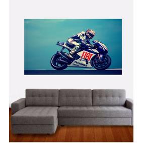 Adesivo Parede Quarto Poster Corrida Moto Gp Valentino Rossi