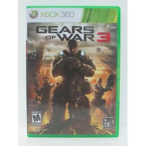 Gears Of War 3 Game Xbox 360 Original Americano Mídia Física
