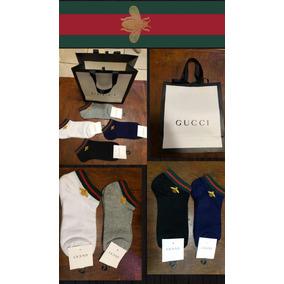 Calcetín Gucci Abeja Paquete Con 4 Pare Incluye Shopping Bag