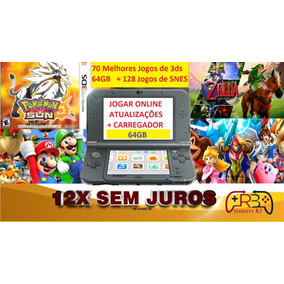 New Nintendo 3ds Xl + 200 Jogos + Pokemon + Mario + Zelda