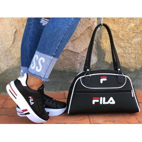 2ef8d4ea2d Zapatillas Negras Fila Para Hombre Ropa Tenis - Zapatos en Mercado ...