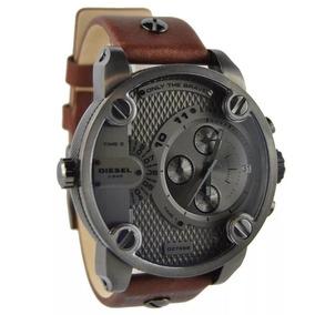 Relógio Diesel Dz7258 Little Daddy Cinza E Marrom Original