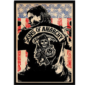 Poster Com Moldura Sons Of Anarchy Jax Teller