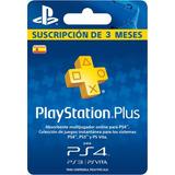 Playstation Plus 3 Meses Ps 3 Ps 4 Ps Vita+ Juegos De Regalo
