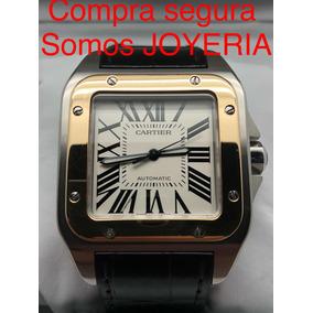 Cartier Santos 100 Xl Oro Y Acero Con Caja Manual Libro Cd