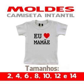 Molde Camiseta Do 2 Ao 16 Infantil Envio Correios