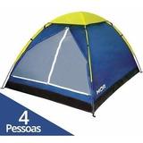 Barraca Camping Impermeavel Iglu 4 Pessoas Mor