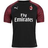 Camisa Milan Uniforme 3 2018 2019 Frete Grátis 0cfb72af3ed1f