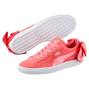 Tenis Puma Suede Bow Coral Mujer 367317-01 Look Trendy