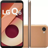 Smartphone Lg Q6 Dourado 32gb 3gbram Tela De 5.5 13mp