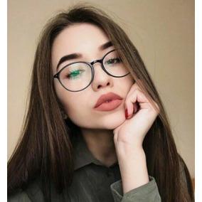 306b1dd372565 Óculos Redondo Armação Vintage Preta Nerd Geek Retro Barato · R  39 65