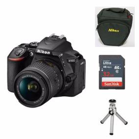 Câmera Nikon D5600 C/18-55mm Af-p Dx+ 32gb+ Bolsa+ Tripé