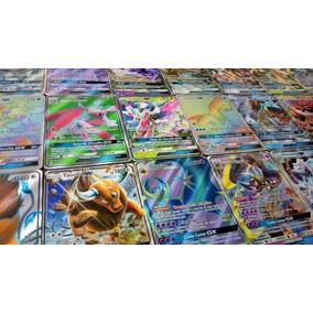 200 Cartas Pokemon + 20 Raras + 3 Lendárias Raras + Ex Ou Gx