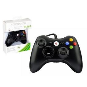 Controle Xbox Com Fio Dualshock Xbox 360 Pc Knup Kp-5121a