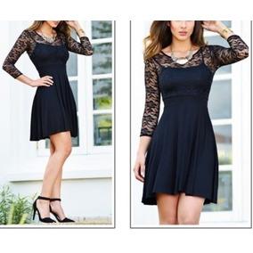 Vestido Tela Encaje Y Viscosa Mujer Cortos - Vestidos en Mercado ... 1ee884499866