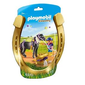 Playmobil 6970 Jinete Con Poni Estrella