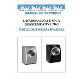 Manual Serviço Lava Seca Brastemp Ative Bws24a Bws24ae Pdf