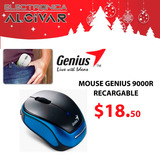 Mouse Inhalámbrico Micro Traveler 9000r Genius Recargable