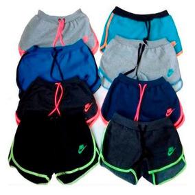 6d62f39dbb Kit 4 Bermuda Short Moletom Feminina Academia Fitness Top